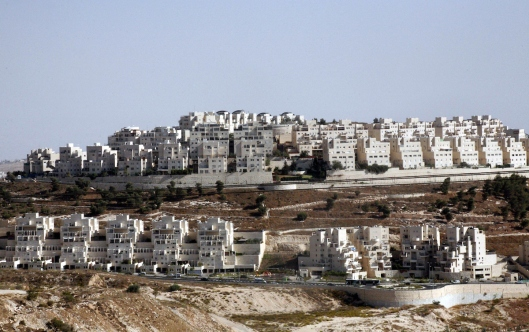 A part of work in Jewish settlement of Harmoun Hanatsave near the Arab neighbourhood of Ras al-Amud